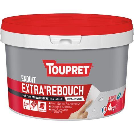 Enduit extra'rebouch pâte Toupret - 4 kg - Blanc