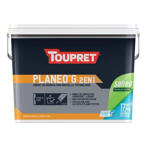 Enduit garnissant d'égalisage Toupret Planeo G (17kg) : application ultra facile et assainit l'air intérieur