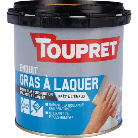 Enduit gras à laquer pâte Toupret - 1 kg - Blanc