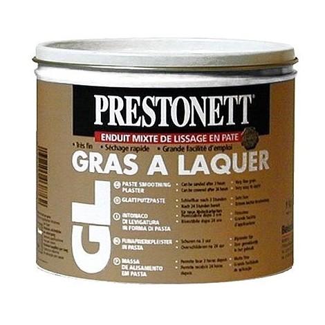 Enduit mixte de finition en pâte PRESTONETT Gras à laquer 1 kg