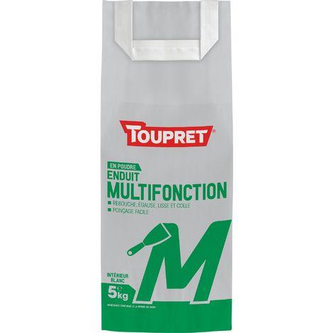 Enduit Multifonction M Toupret - Sac 5 kg - Poudre - Blanc