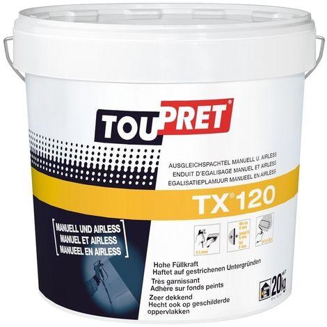 ENDUIT PATE TX 120 20KG(MANUEL/AIRLESS) - TOUPRET