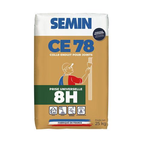 Enduit pour joint Semin CE 78 prise universelle 8 heures - sac de 25 kg