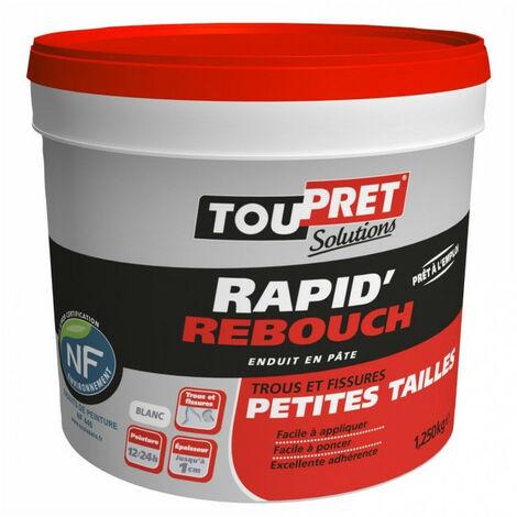 Enduit Rapid'Rebouch en pâte - blanc - 1,25kg TOUPRET