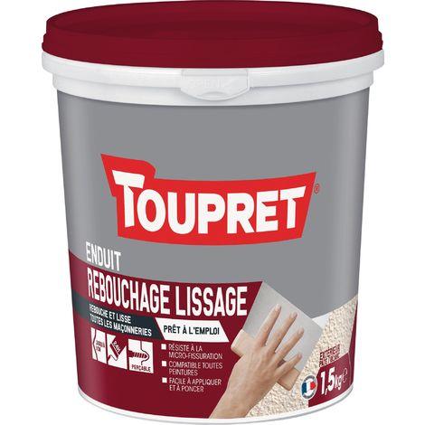 Enduit Rebouchage Lissage - Toupret - 1.5 kg - Blanc