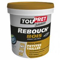 Enduit Rebouch'Bois en pâte - marron - 1,25kg TOUPRET