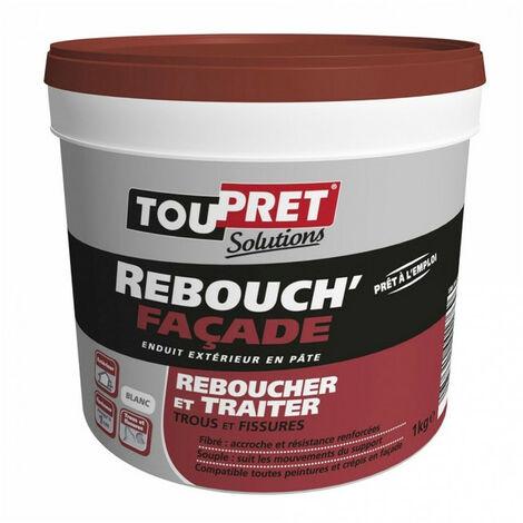 Enduit Rebouch'Façade en pâte - blanc - 1kg TOUPRET