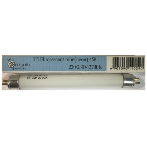 Energetic Lighting EL4W2700K Tube T5 Mini Fluorescent G5 4W 2700K 220/230V L=136mm