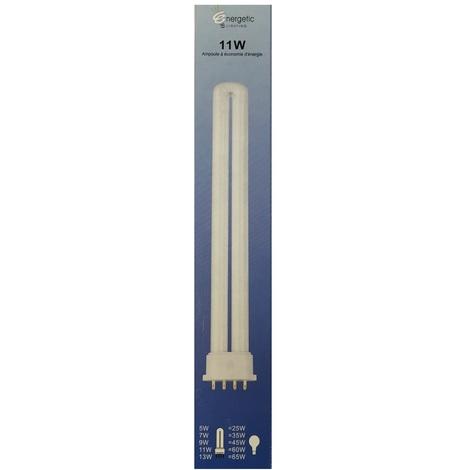 Energetic Lighting YDW11-U Ampoule 2G7 11W 750lm L=220mm - économie d'énergie - longue durée