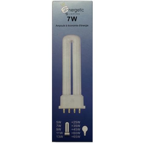 Energetic Lighting YDW7-U Ampoule 2G7 7W 350lm L=120mm - économie d'énergie - longue durée