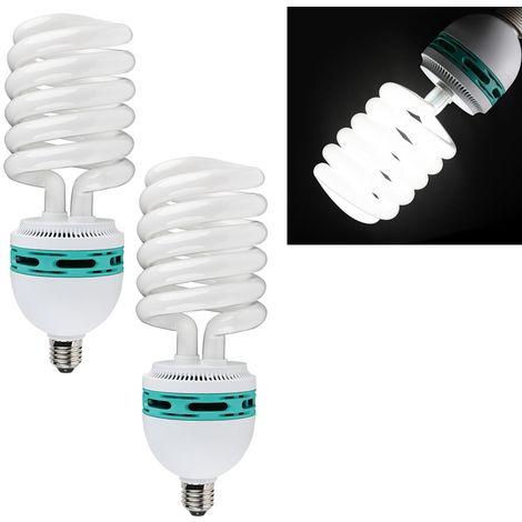 Energiesparlampe Dauerlicht Fotolampe Tageslicht 125W 5500K E27 Studiolampe 2er