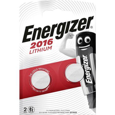 Energizer® Knopfzellen/ 626986, Ø 20 x H 1,6 mm CR2016 Inh. 2
