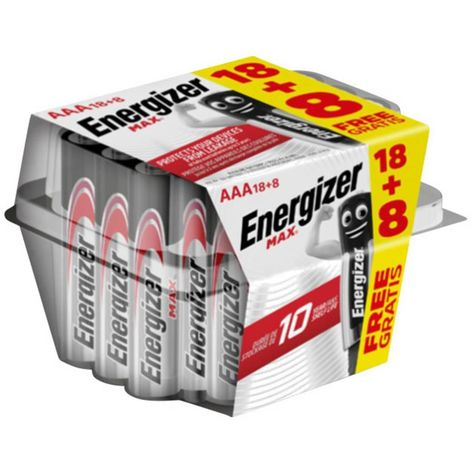 "main image of ""Energizer Max 18+8 gratis Batteria Ministilo (AAA) Alcalina/manganese 1.5 V 26 pz."""