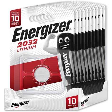 Energizer - Pack de 10 pilas CR2032 de litio, 3 v