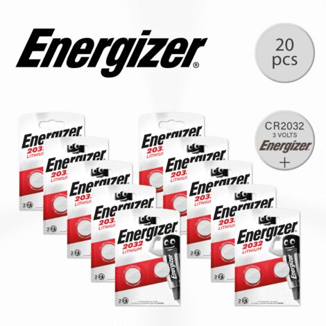 Energizer - Pack de 20 pilas CR2032 de litio, 3 v
