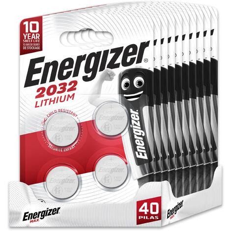 Energizer - Pack de 40 pilas CR2032 de litio, 3 v