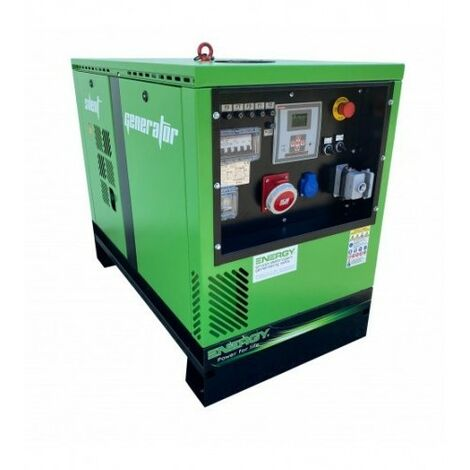 ENERGY Groupe électrogène diesel 7 KVA 400V EY-7TDE-SA - Vert