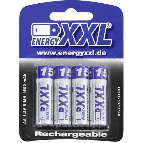 energyXXL Mignon Akkus 1500 mAh Ni-MH Typ AA 1,2V 4 Stück56351000
