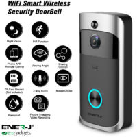 ENERJ ECO VIDEO DOORBELL 2 WAY AUDIO, MOTION SENSOR (batteries not included)