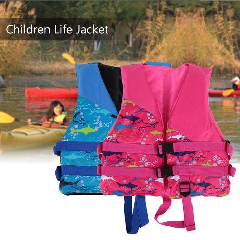 Enfants Enfants De Sauvetage Gilet De Sauvetage Flottabilite Aide Vetement De Flottaison Nautique Surf Travail Gilet Vetements, Rose