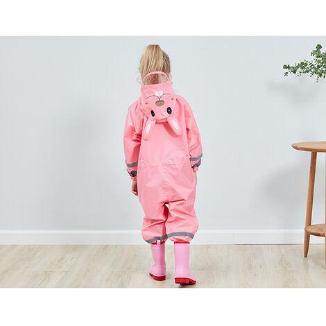 Enfants Raincoat Respirant Rainwear Raincoat Impermeable Pour Enfants Garcons Filles Les Etudiants Rainsuit Capuche Haute Visibilite Reflechissant Raincoat, Jaune, M
