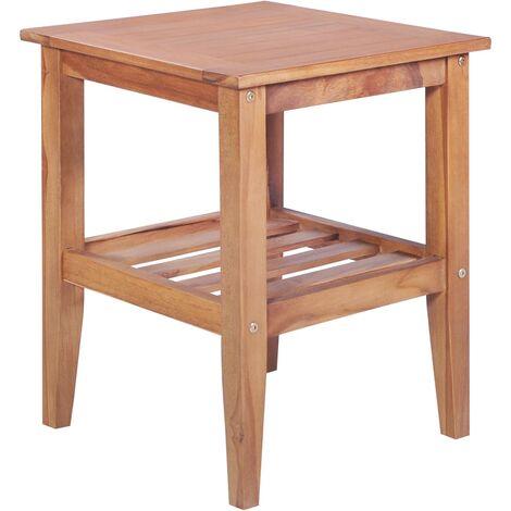 "main image of ""Engles Solid Teak Side Table by Brayden Studio - Brown"""