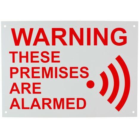 English A4 External Alarm Warning Sign [005-2010]