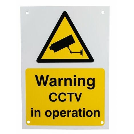 English A5 External CCTV Warning Sign [002-0530]