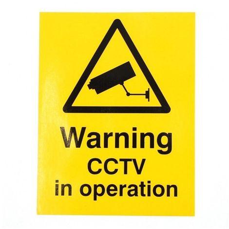 English CCTV Warning Window Sticker [002-0540]