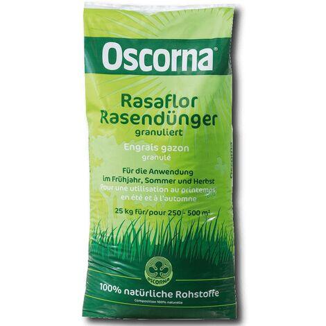 Engrais à gazon Oscorna Rasaflor granulé 25 kg Engrais professionnel Naturel Bio Éco Pelouse
