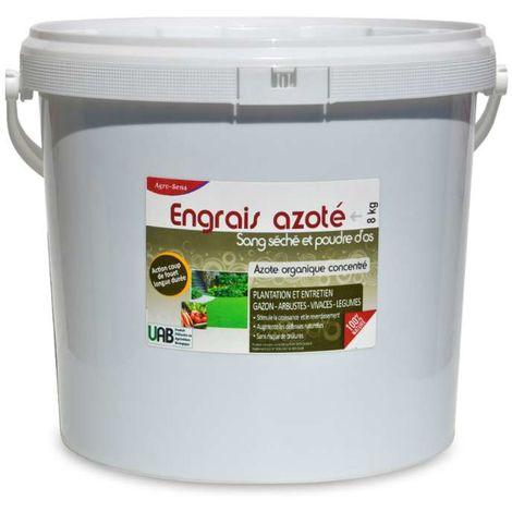 Engrais azoté à base de sang séché, enrichi en poudre d'os. 8 kg