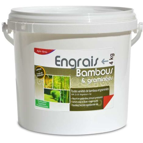 Engrais bambous et graminées. Fertilisant organique complet, seau 4 k