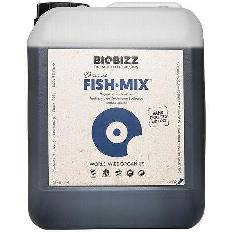 Engrais Biologique Fish Mix 5 litres - BioBizz , engrais émulsion de poisson biologique