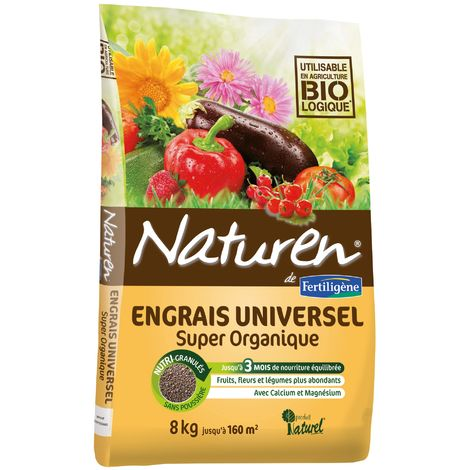Engrais complet super organique Naturen - Sac 8 kg