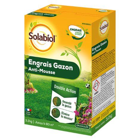 Engrais Gazon Anti-mousse SOLABIOL 3,2 kg Granulés D456491