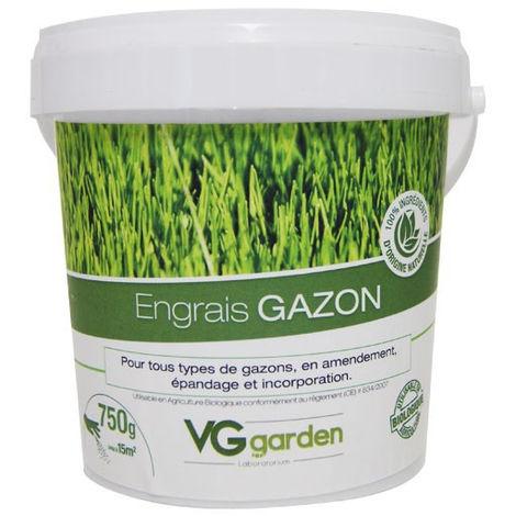 Engrais gazon naturel pour tous gazons 750g - VG Garden