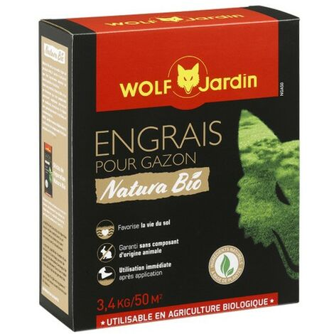 Engrais gazon naturel Wolf NGA50