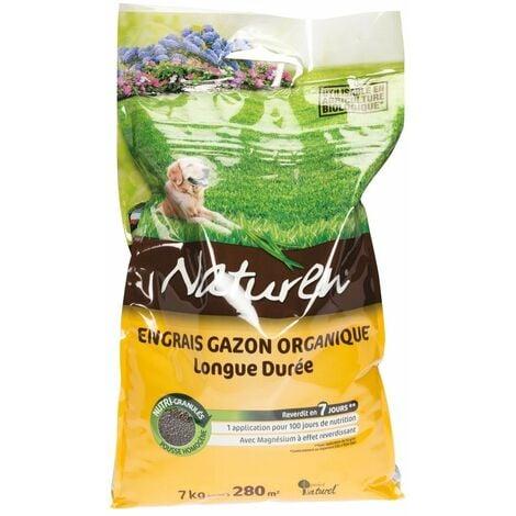 Engrais gazon organique longue durée sac 7 kg