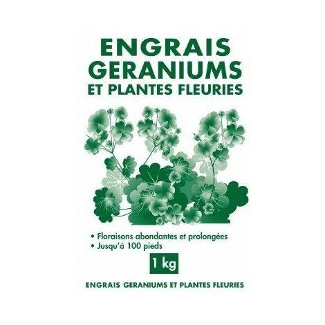 Engrais géraniums et plantes fleuries granulés sac 1 kg