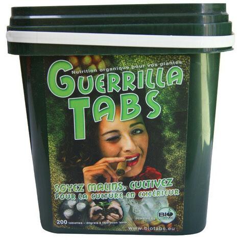 Engrais Guerrilla Tabs x200 tablettes - Biotabs engrais biologique