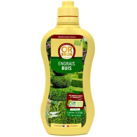 Engrais liquide buis Or Brun, fertilisant organique 1 litre UAB