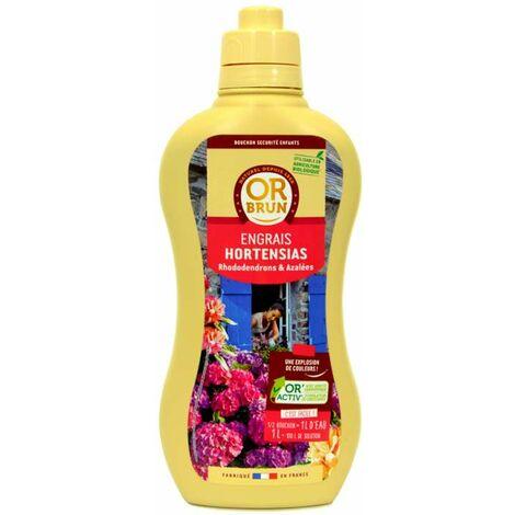 Engrais liquide hortensias et terre de bruyère Or Brun, 1 litre UAB