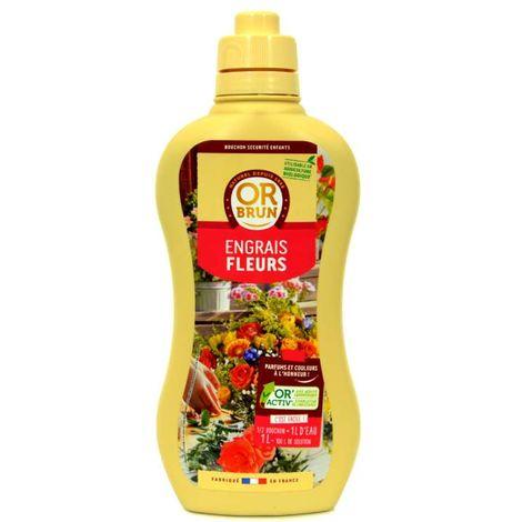 Engrais liquide plantes fleuries Or Brun, fertilisant organique 1L UA