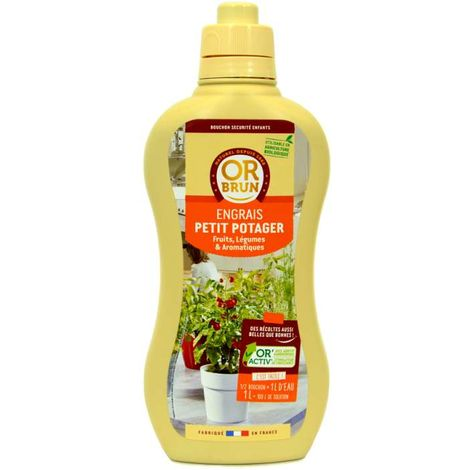 Engrais liquide potager fruits et légumes Or Brun, 1 litre UAB