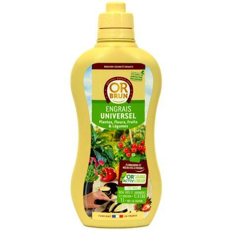 Engrais liquide universel fleurs fruits légumes Or Brun, 1 litre UAB