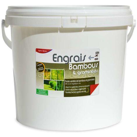 Engrais organique bambous et graminées. Seau 8 kg