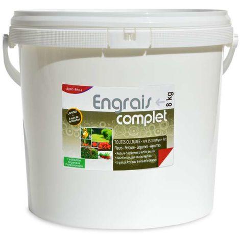 Engrais organique complet pour légumes, fleurs, fruits. Seau 8 kg