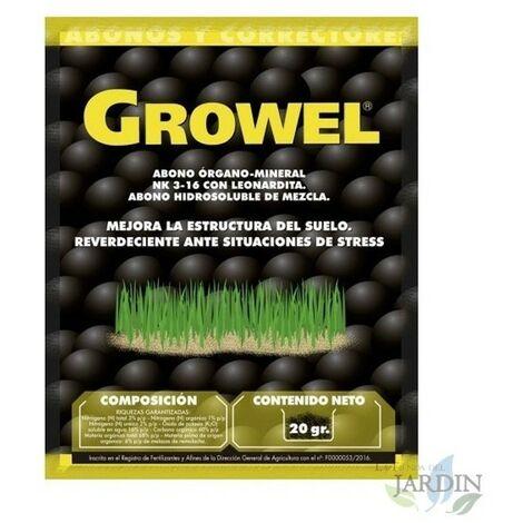 Engrais organique Growel 20 gr, améliore la structure du sol