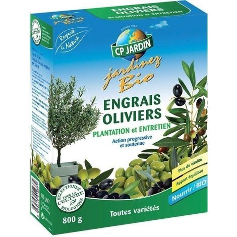Engrais organique pour oliviers 800 gr