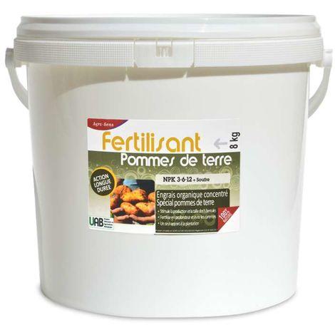 Engrais organique spécial pommes de terre NPK 3-6-12. Seau de 8 kg UA